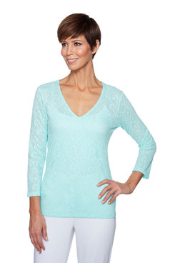 Image: Plus Paisley Shadow Knit Top