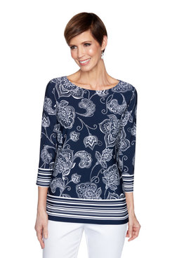 Image: Plus Paisley Striped Top