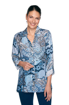 Image: Plus Paisley Tile Print Top