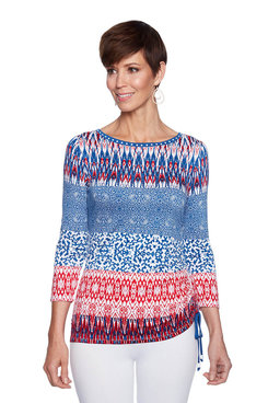Image: Plus Patch Stripe Top