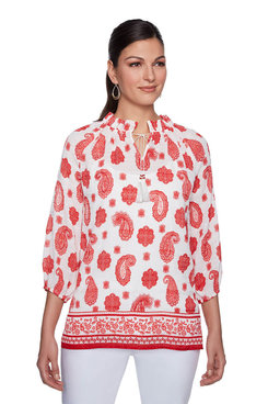 Image: Plus Patchwork Woven Top