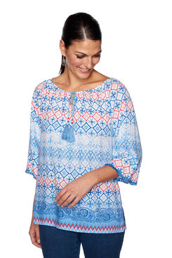Image: Plus Pattern Play Print Top