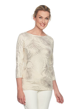 Plus Peacock Feather Print Top