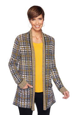 Image: Plus Plaid Sweater Cardigan