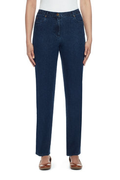 Image: Plus Proportioned Short Easy Fit Jean