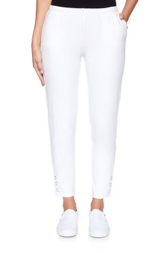 Image: Plus Pull-On Extra Stretch Buttoned Hem Pant