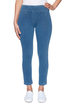 Image: Plus Pull-On Knitted Twill Ankle Pant