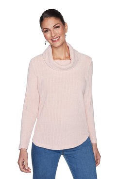 Image: Plus Ribbed Chenille Striped Pullover