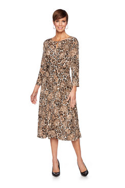 Image: Plus Safari Print Dress