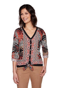 Image: Plus Sahara Palm Print Top