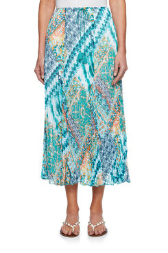 Image: Plus Sarong Patchwork Skirt