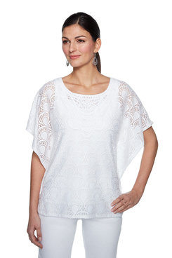 Image: Plus Seashell Lace Top
