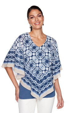 Image: Plus Shibori Butterfly Top