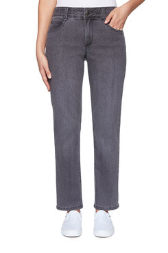Image: Plus Soft Fly-Front Denim Pant