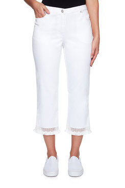 Image: Plus Solar Fringe Denim Capri