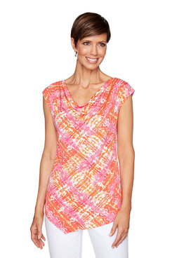 Image: Plus Solar Patchwork Print Top