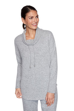 Image: Plus Solid Cozy Knit Pullover