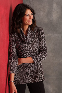 Image: Plus Spotted Leopard Printed Top