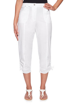 Image: Plus Stretch Poplin Capri
