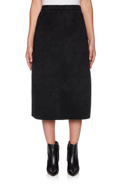 Image: Plus Stretch Suede Skirt