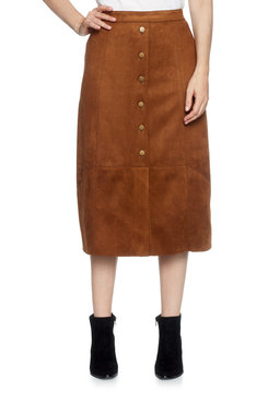 Plus Suede Pull on Skirt
