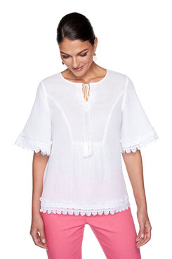 Image: Plus Tassel Gauze Top