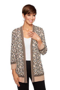 Image: Plus Textured Leopard Cardigan