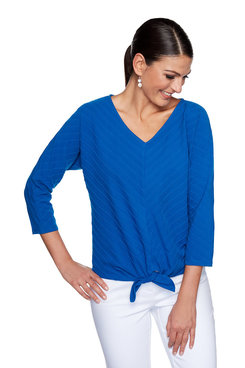 Image: Plus Textured Striped Knit Top