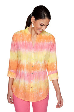 Image: Plus Tie-Dye Cambric Top