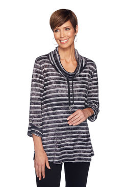 Image: Plus Tie Dye Cowl Neck Top