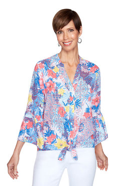 Image: Plus Tuscan Floral Top