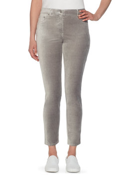 Image: Plus Velveteen Stretch Ankle Pant