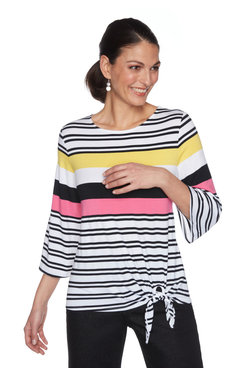 Image: Plus Vertical Striped Side-Tie Top