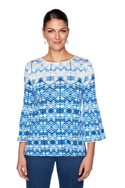 Image: Plus Waterfall Geo Print Top