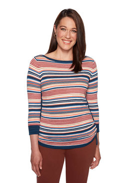 Image: Plus Western Stripe Top