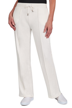 Image: Plus Women's Pull-On Wide-Leg French Terry Pant