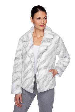 Image: Plus Zebra Sherpa Jacket