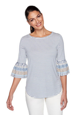 Image: Puff Striped Top
