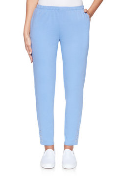 Image: Pull-On Extra Stretch Buttoned Hem Pant
