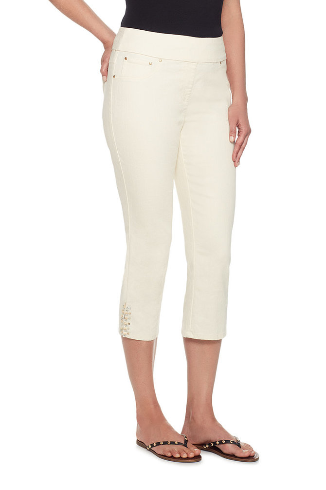 Pull-on Extra Stretch Denim Color Cropped Capri - Ruby Rd.