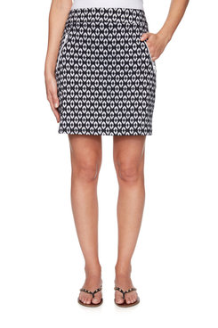 Image: Pull-On Ikat Printed Skort