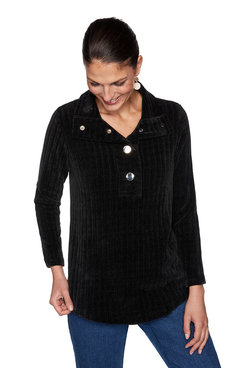 Image: Ribbed Chenille Pullover