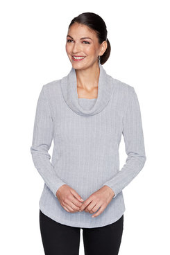 Image: Ribbed Chenille Striped Pullover