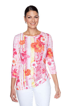 Image: Riviera Floral Striped Top
