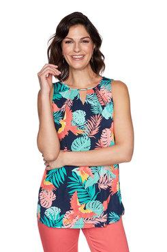 Image: Sleeveless Tropical Birds Top