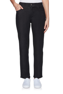 Image: Soft Fly-Front Denim Pant