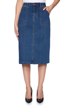 Image: Soft Stretch Denim Skirt