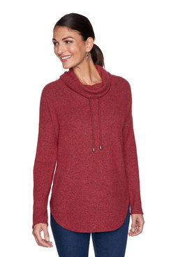 Image: Solid Cozy Knit Pullover