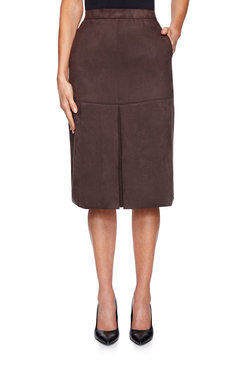 Image: Stretch Suede Skirt