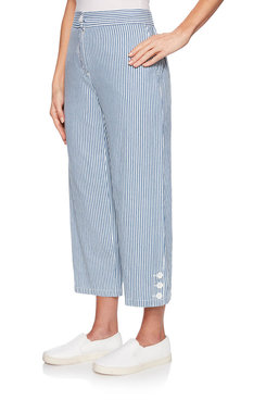 Image: Stripe Ankle Pant